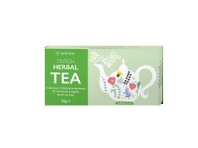 Dutch Herbal Tea - Jan de Vries<BR>25 x 2g